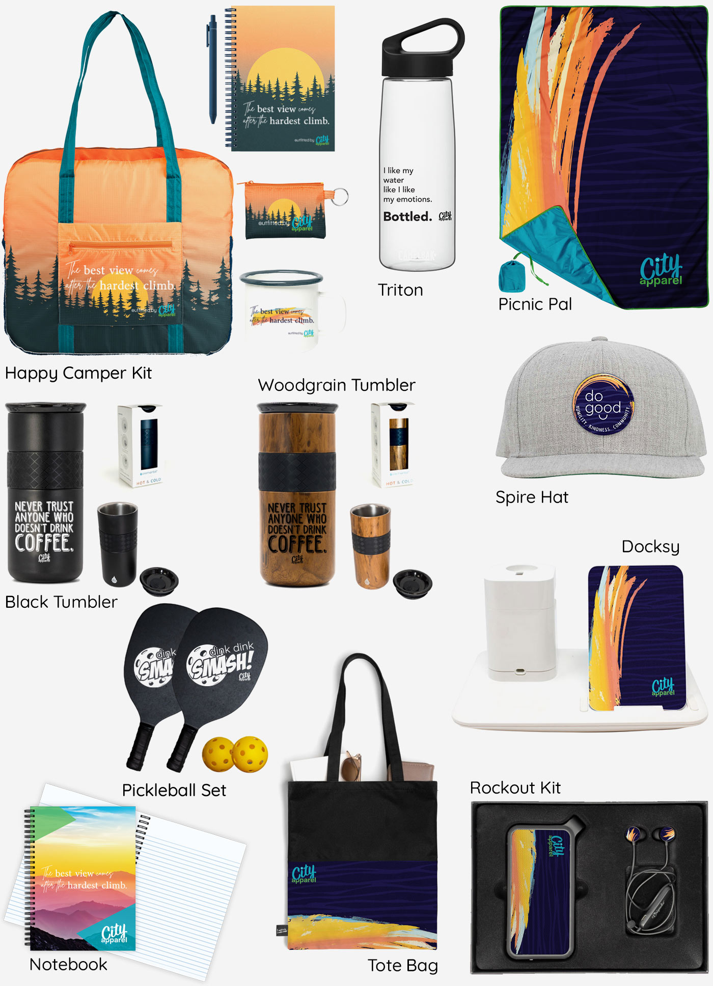 City Apparel gift items